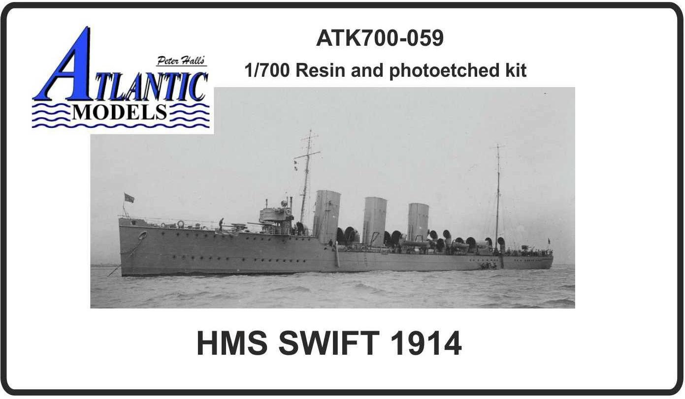 英国海軍 駆逐艦 スウィフト 1914 Swift