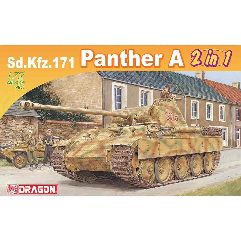 【新製品】7546 WW.II ドイツSd.Kfz.171パンターA 初期型/後期型 (2in1)