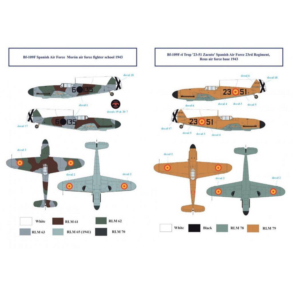 【新製品】アティチュードアビエーション BUC-32007 メッサーシュミット Bf109F-4 スペイン空軍