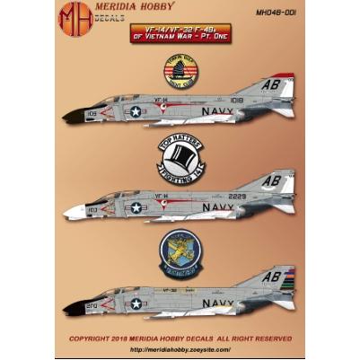 【新製品】MERIDIA HOBBY DECALS MHD48-001 マクドネルダグラス F-4B ファントム