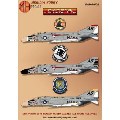 【新製品】MERIDIA HOBBY DECALS MHD48-002 マクドネルダグラス F-4B ファントム
