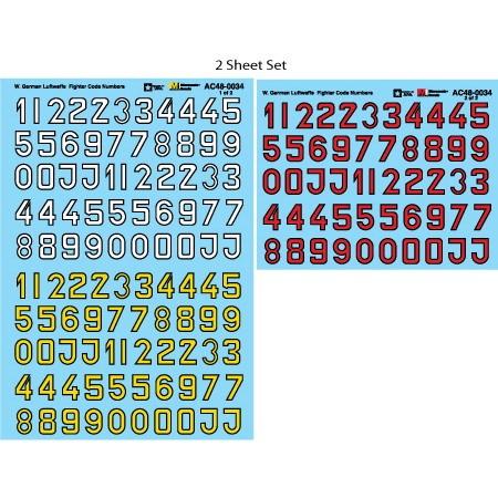【新製品】AC48-0034 ドイツ空軍 コードレター 白/赤/黄 黒フチ付き