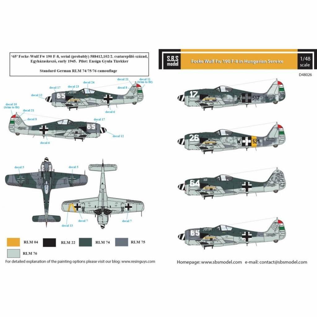 【新製品】D48026 フォッケウルフ Fw190F-8 「ハンガリー空軍」 Vol..I