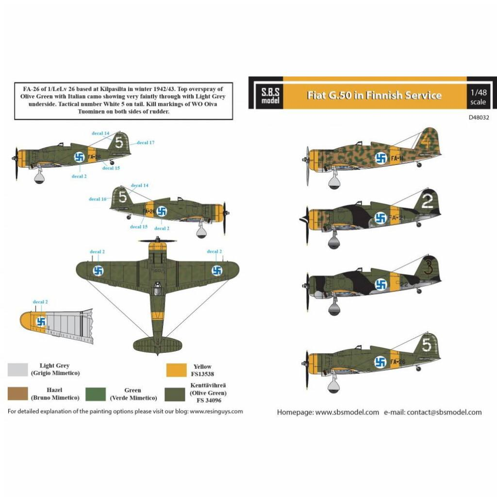 【新製品】D48032 フィアット G.50 フレッチア 「フィンランド空軍」
