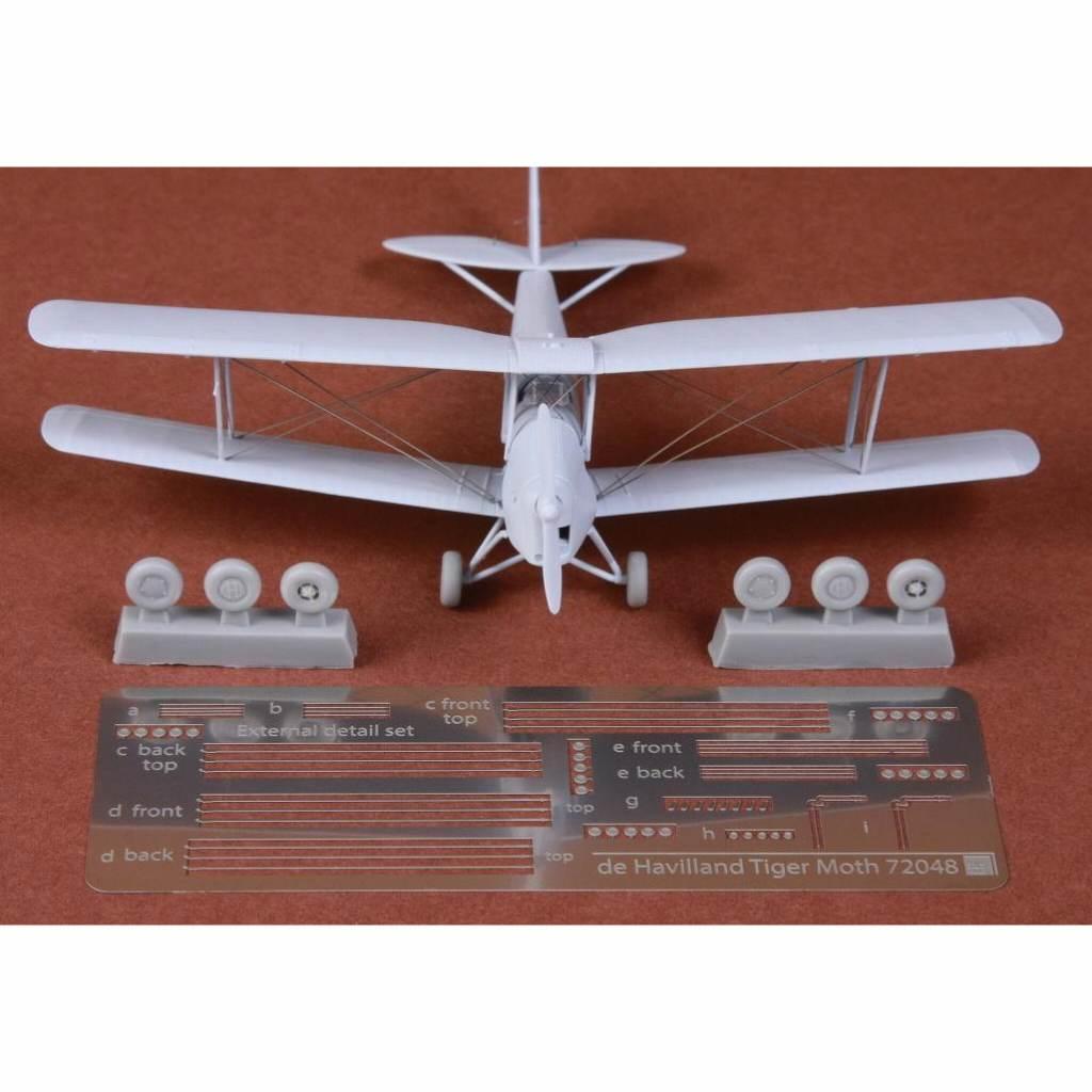 【新製品】72048 デ・ハビランド DH.82 タイガーモス 張り線&ホイールセット