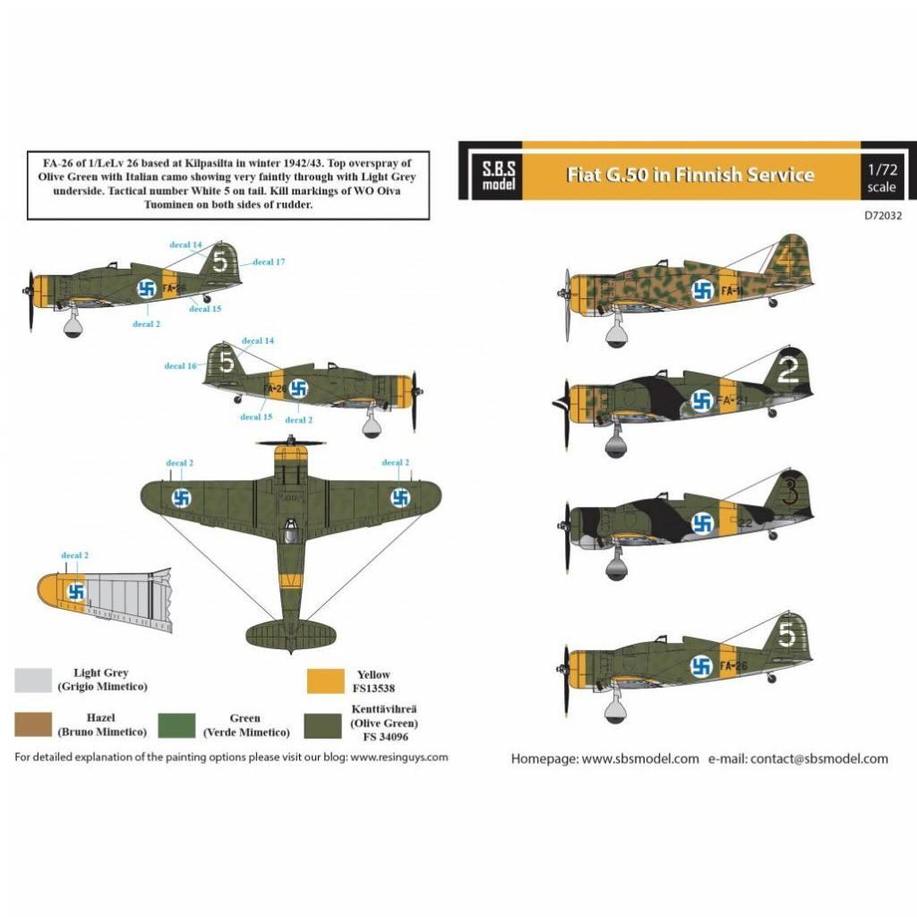 【新製品】D72032 フィアット G.50 フレッチア 「フィンランド空軍」