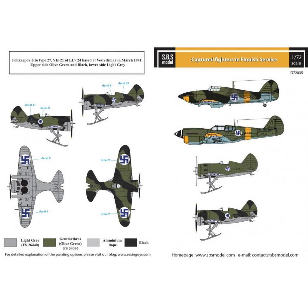 【新製品】D72035 フィンランド軍 鹵獲戦闘機