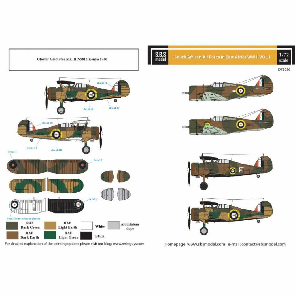 【新製品】D72036 南アフリカ空軍 「WWII 東アフリカ戦線」 Vol.I