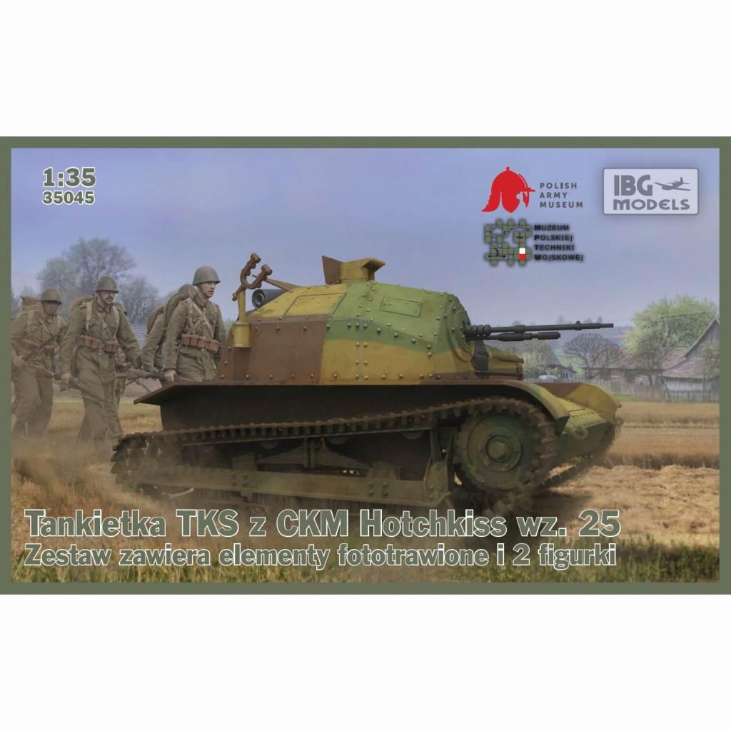 【新製品】35045 ポーランド TKS 小型戦車 7.92mm機銃 wz29搭載型+戦車兵2体