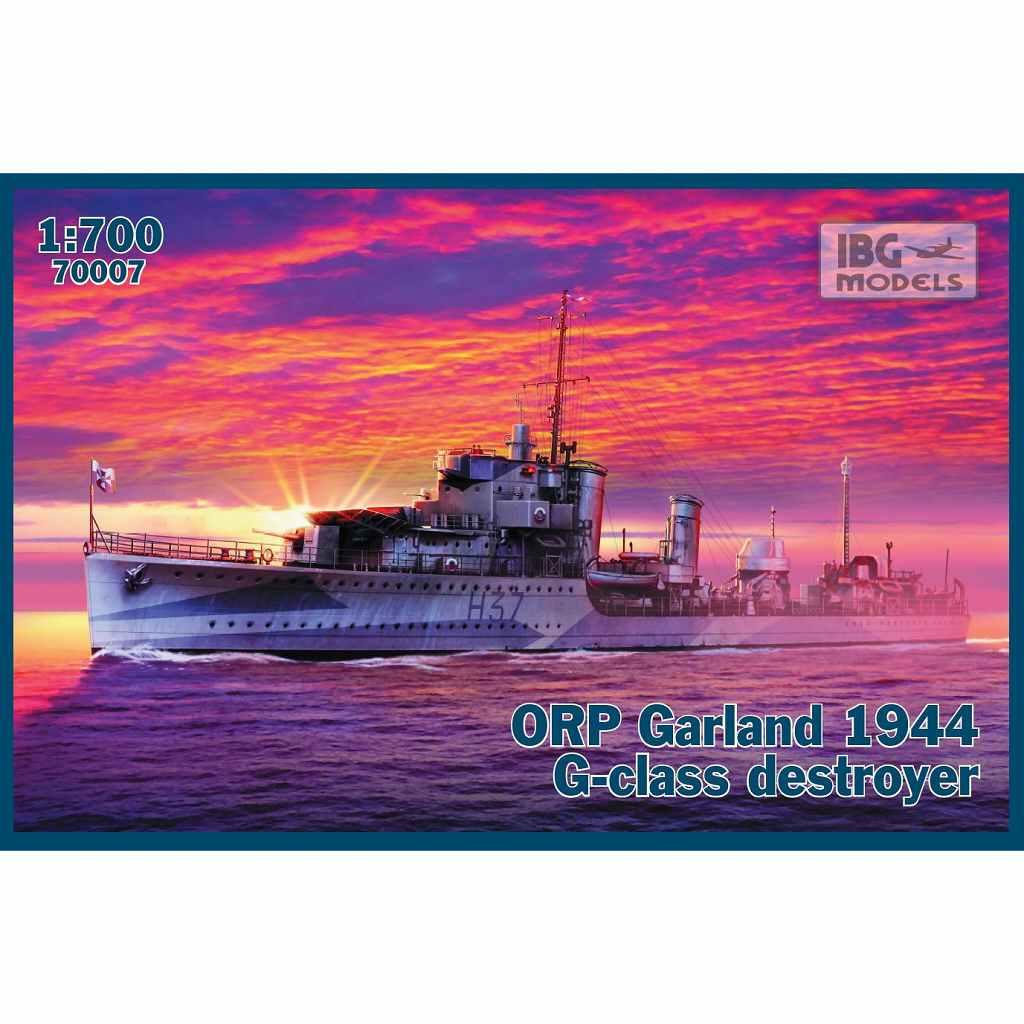 【新製品】PB70007 英 G級駆逐艦 ガーランド 自由ポーランド海軍1944年