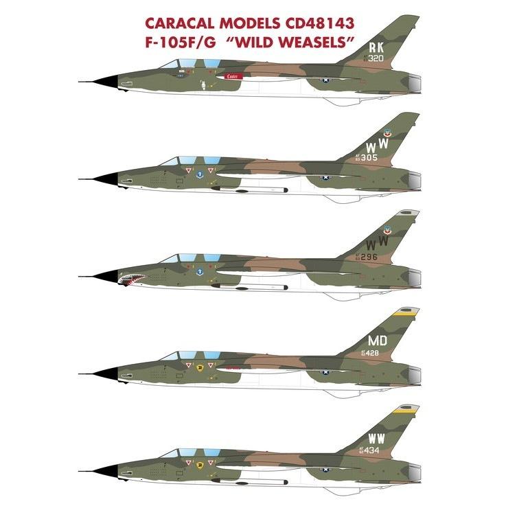 【新製品】48143 F-105F/G ワイルドウィーゼル