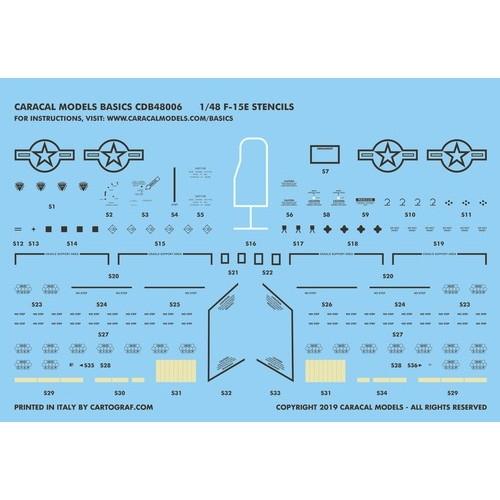 【新製品】CDB48006 F-15E ストライクイーグル ステンシル