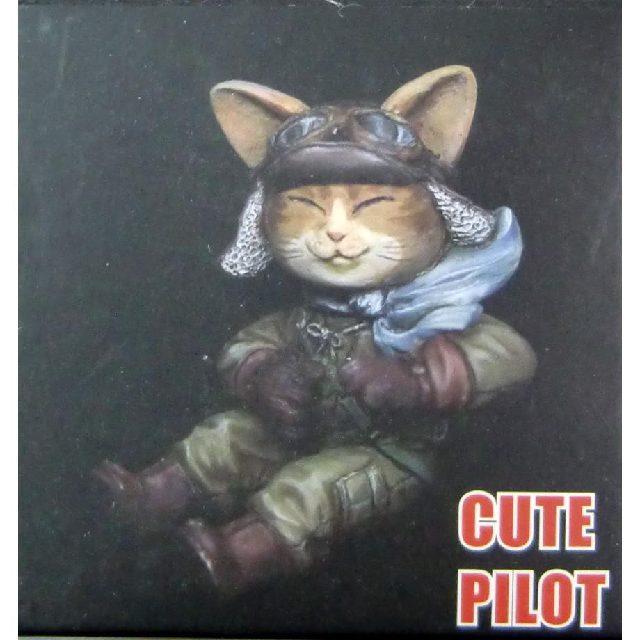 【新製品】TMO TT001-F)キュートフィギュア: 日本猫パイロット (未塗装組立式レジンキット)