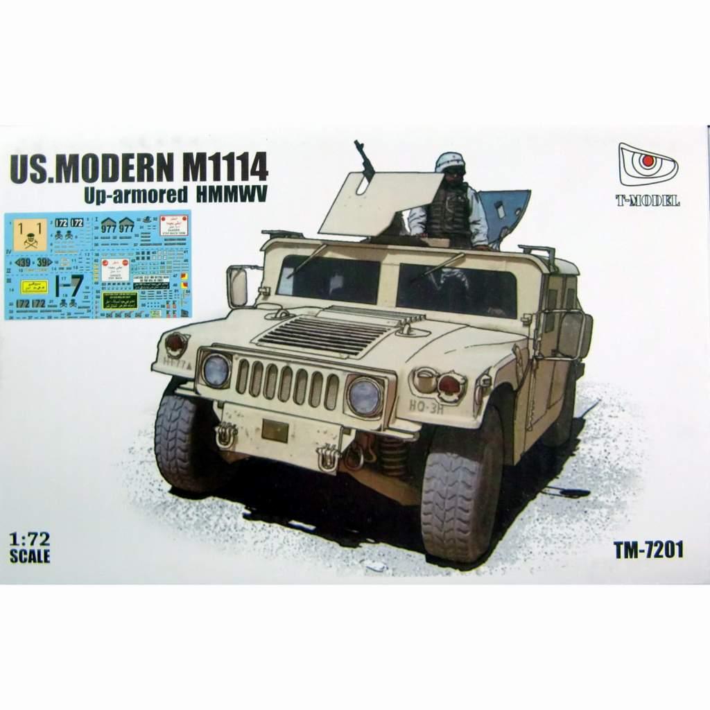 【新製品】TM-7201B 米 M1114 ハマー 兵員輸送車 w/デカール(TMOTK72015)セット