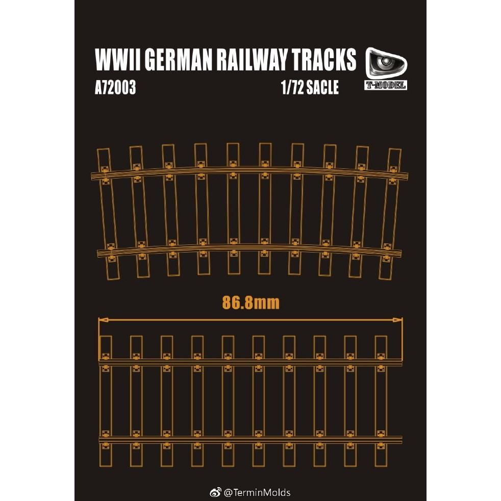 【新製品】A72003 ドイツ 鉄道線路(線路1区間 x 4、接続時全長約35cm)