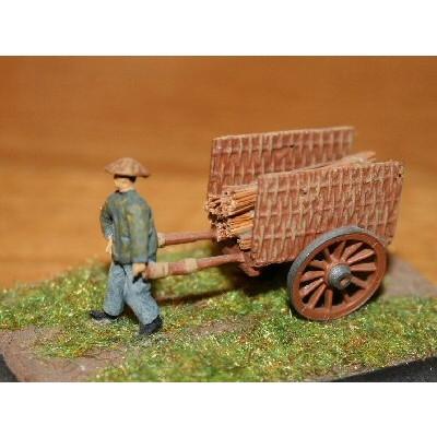 【新製品】100/023 アジアの農夫と荷車