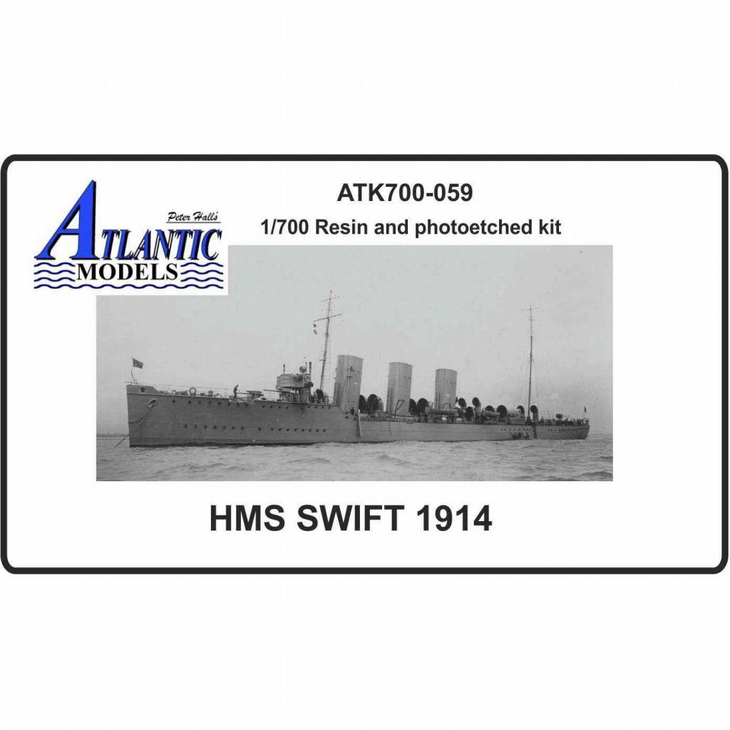 【新製品】ATK70059 英国海軍 駆逐艦 スウィフト 1914 Swift