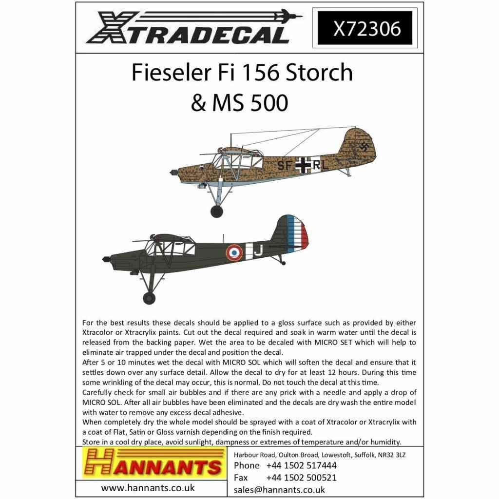 【新製品】X72306 フィゼラー Fi156 シュトルヒ & MS500