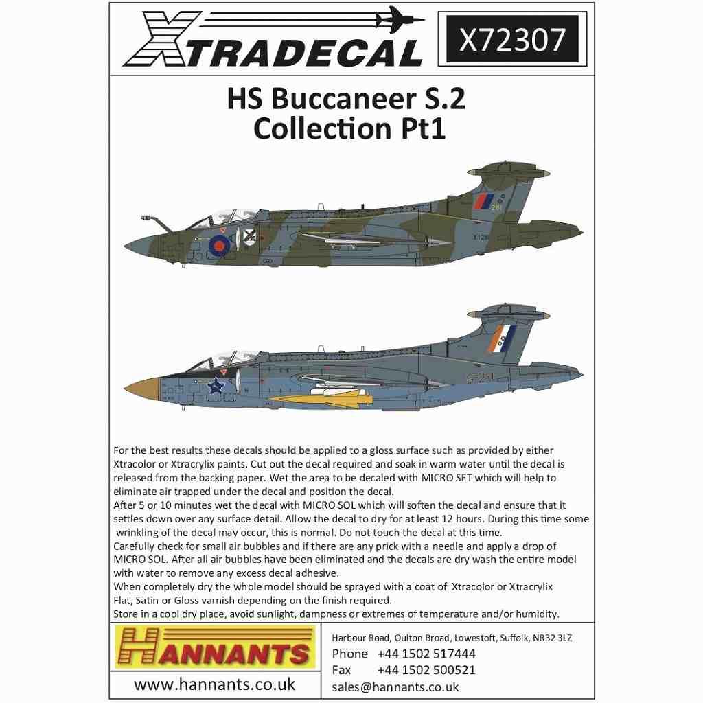 【新製品】X72307 ブラックバーン/ホーカー・シドレー バッカニア S.2 コレクション Pt.1