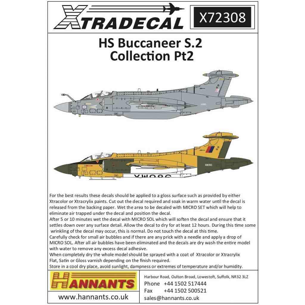 【新製品】X72308 ブラックバーン/ホーカー・シドレー バッカニア S.2 コレクション Pt.2