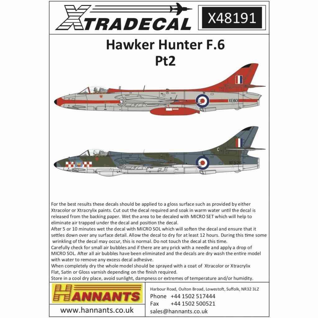 【新製品】X48191 ホーカー ハンター F.6 Pt 2