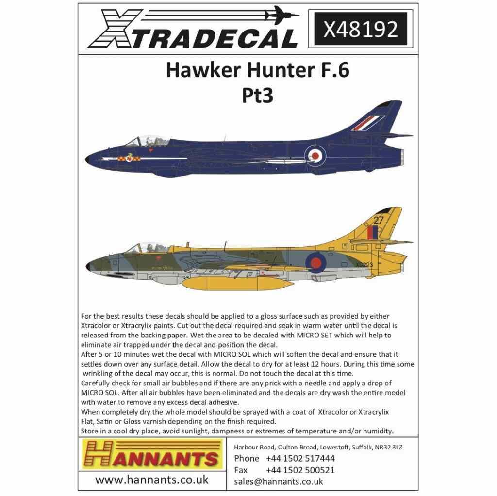 【新製品】X48192 ホーカー ハンター F.6 Pt.3