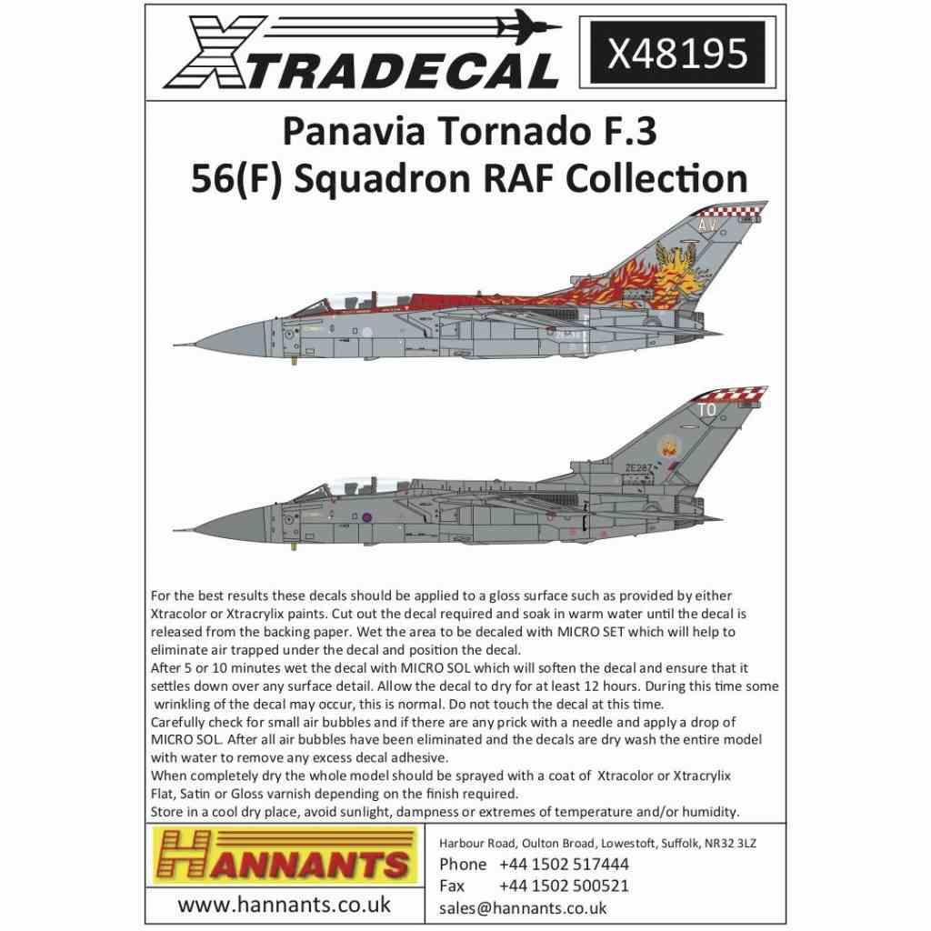 【新製品】X48195 パナビア トーネード F.3 56(F)スコードロン RAFコレクション