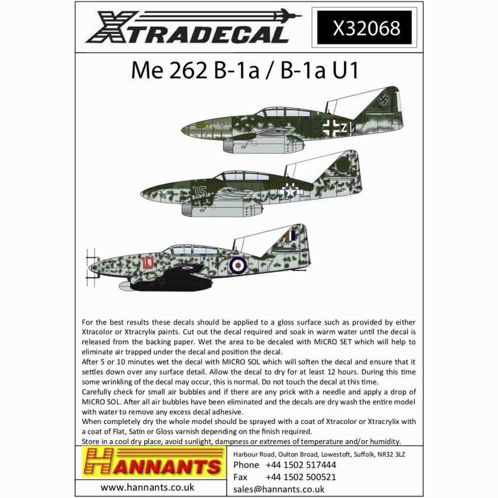 【新製品】X32068 メッサーシュミット Me262B-1a/B-1U1