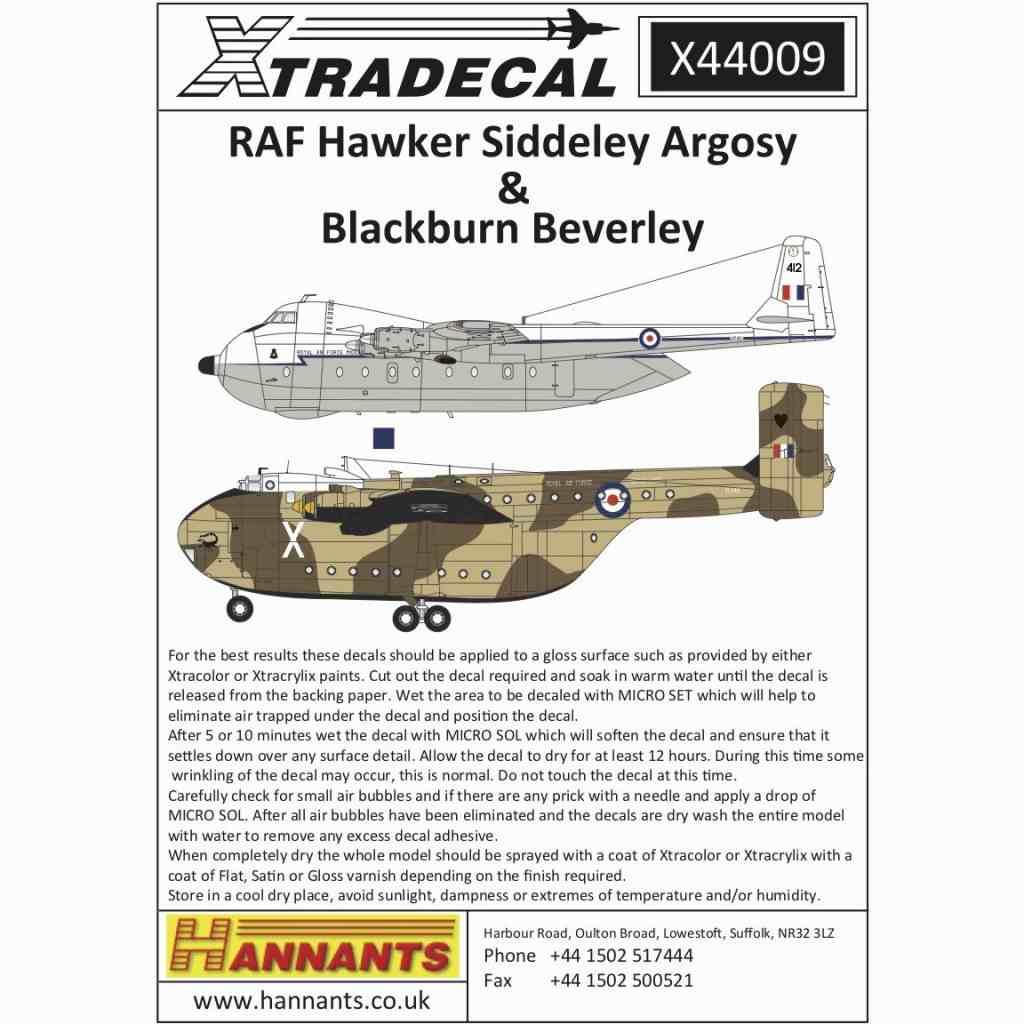 【新製品】X44009 ホーカー・シドレー アーゴシー & ブラックバーン ビバリー