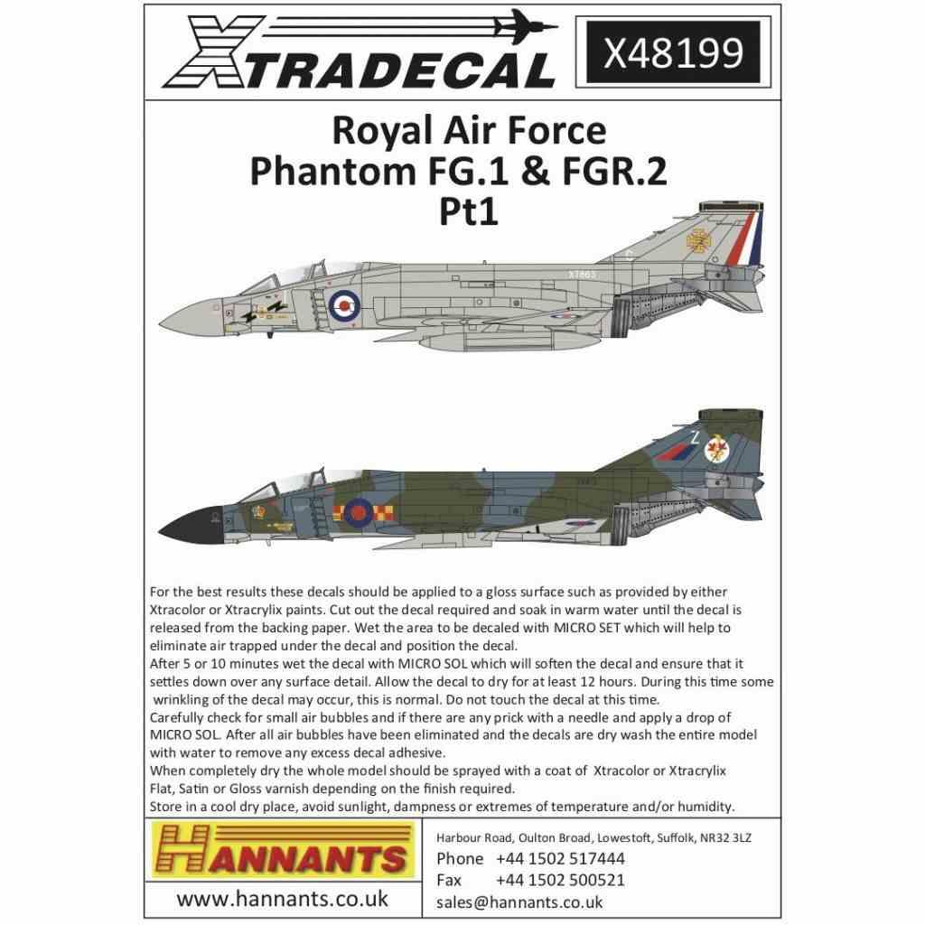 【新製品】X48199 RAF マクドネルダグラス ファントムFG.1&FGR.2 Part.1