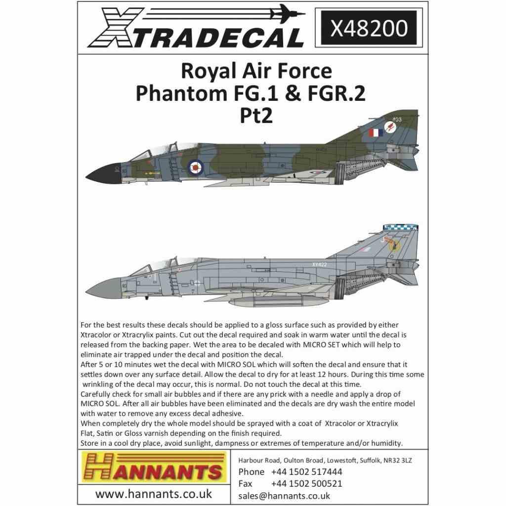 【新製品】X48200 RAF マクドネルダグラス ファントムFG.1&FGR.2 Part.2