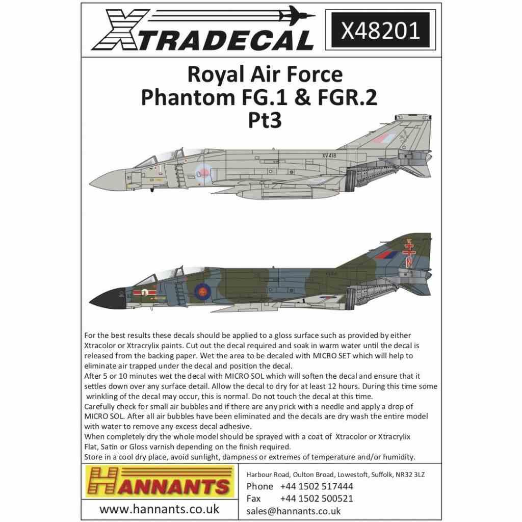 【新製品】X48201 RAF マクドネルダグラス ファントムFG.1&FGR.2 Part.3