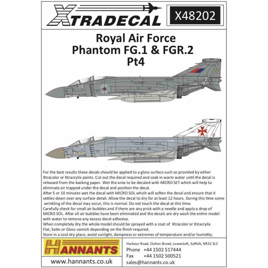 【新製品】X48202 RAF マクドネルダグラス ファントムFG.1&FGR.2 Part.4