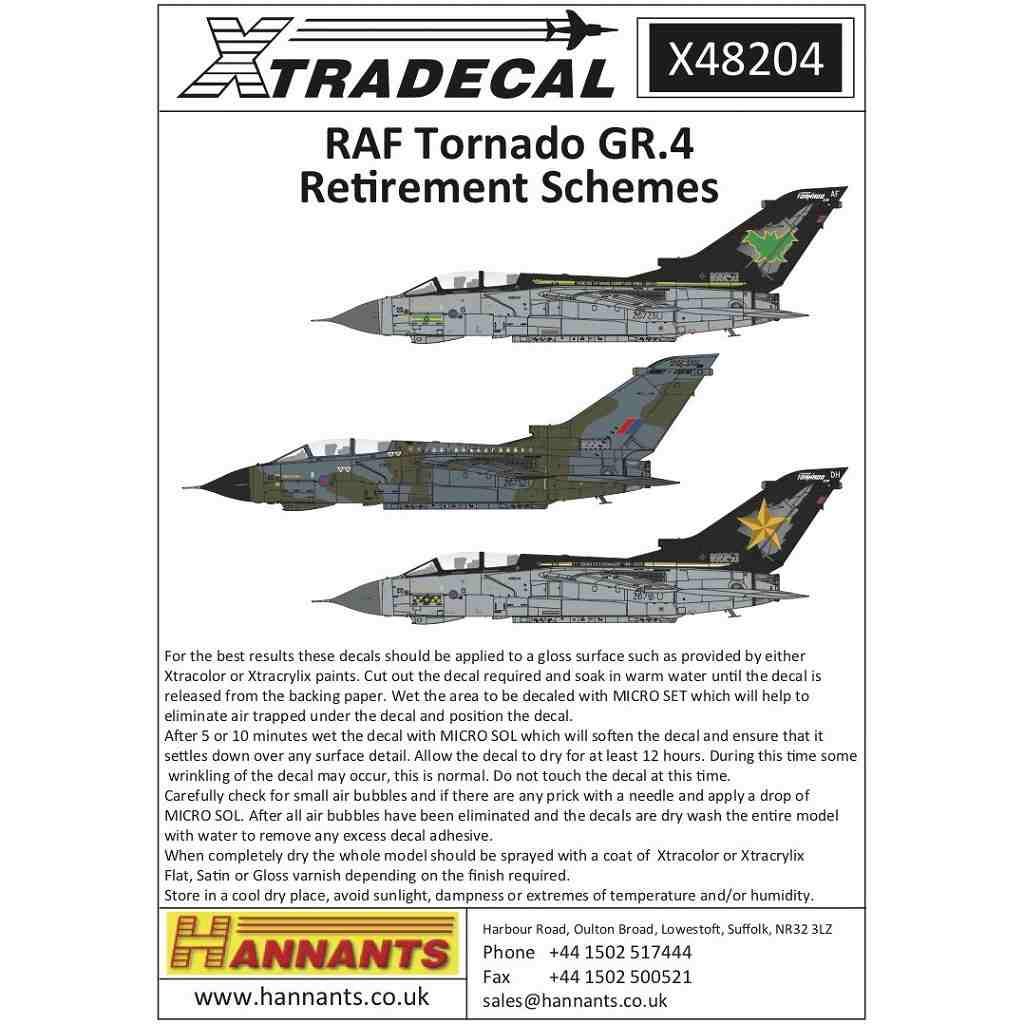【新製品】X48204 RAF パナビア トーネード GR.4 スペシャル&リタイヤスキーム