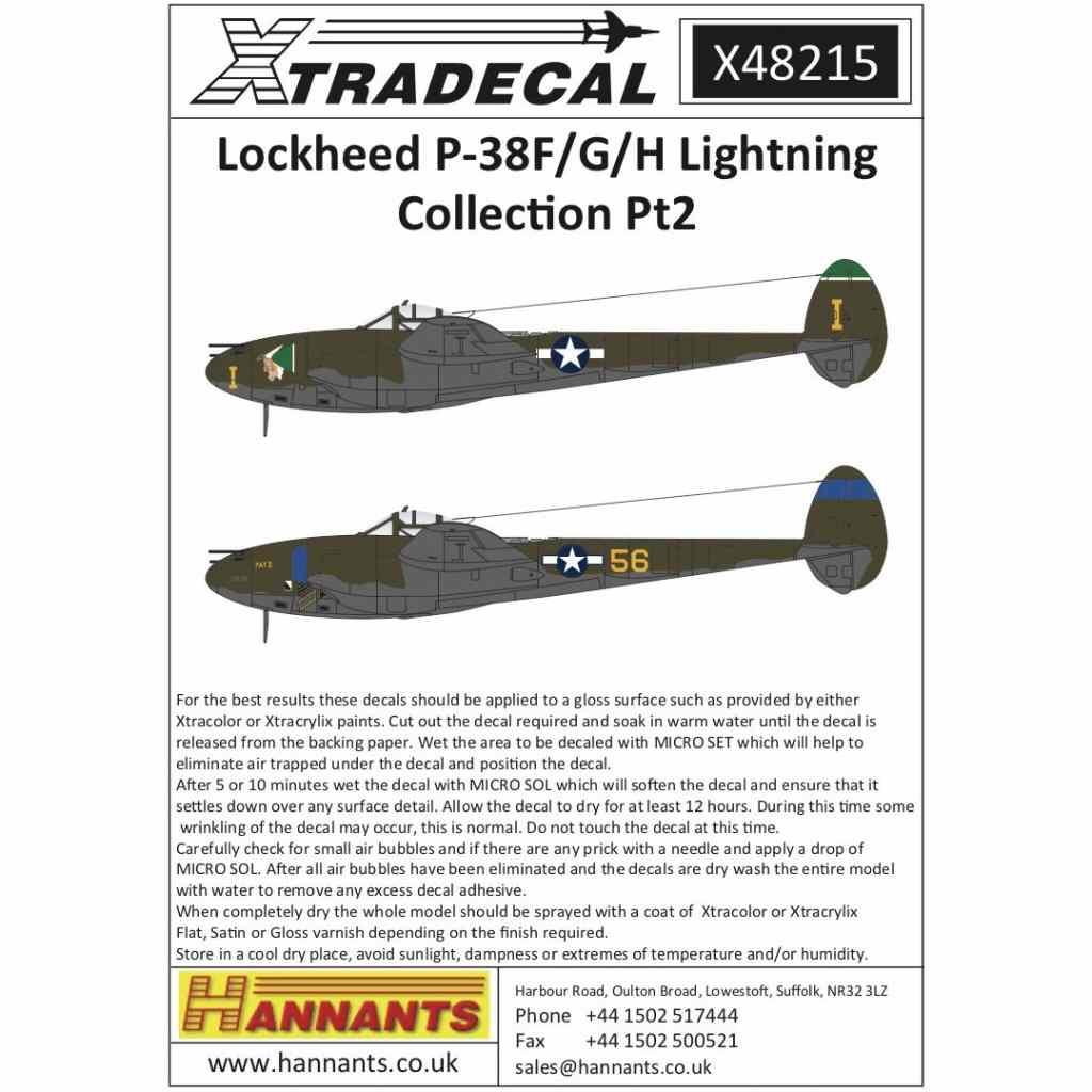 【新製品】X48215 ロッキード P-38F/G/H ライトニング Pt.2