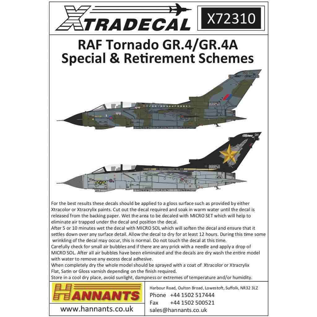 【新製品】X72310 RAF パナビア トーネード GR.4/GR.4A スペシャル&リタイヤスキーム