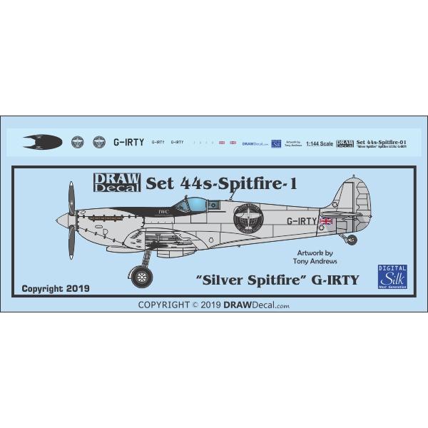 【新製品】44s-Spitfire-1 「シルバースピットファイア」 スピットファイア LF.IXc G-IRTY