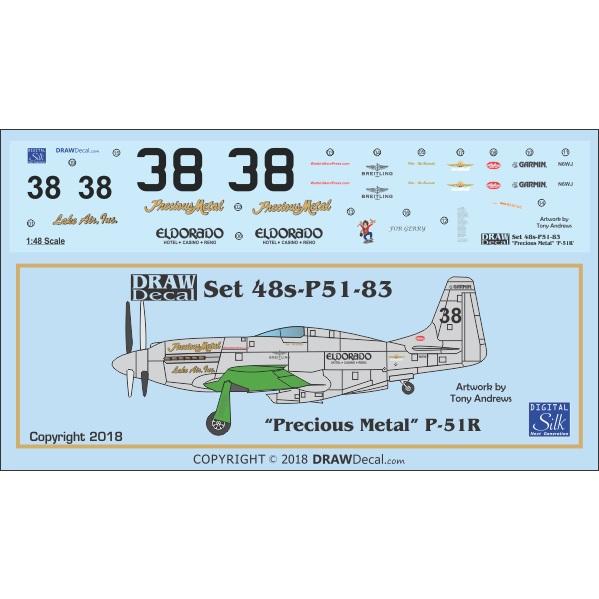【新製品】Set 48s-P51-83 P-51R Precious Metal