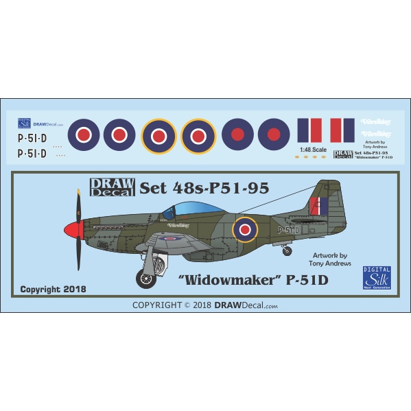 【新製品】Set 48s-P51-95 P-51D Windowmaker G-PSID