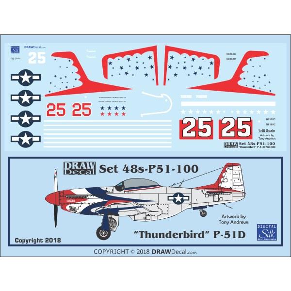 【新製品】Set 48s-P51-100 P-51D Thunderbird