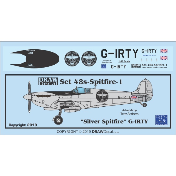 【新製品】48s-Spitfire-1 「シルバースピットファイア」 スピットファイア LF.IXc G-IRTY