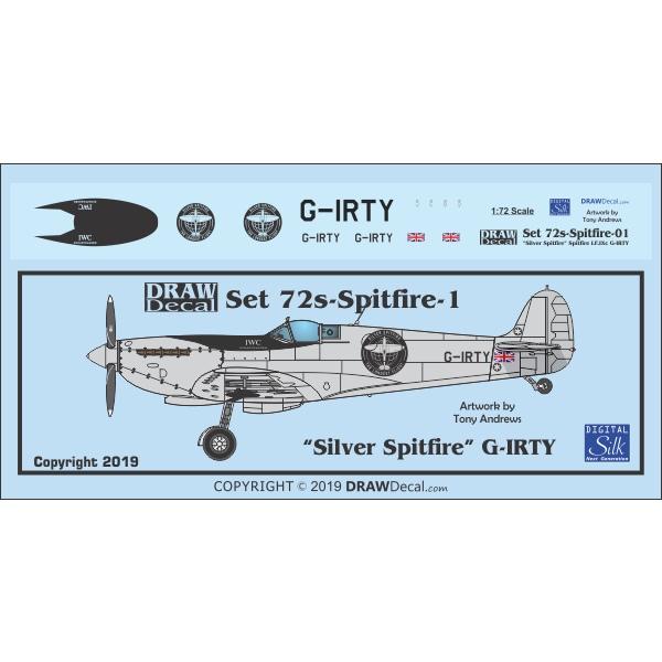 【新製品】72s-Spitfire-1 「シルバースピットファイア」 スピットファイア LF.IXc G-IRTY