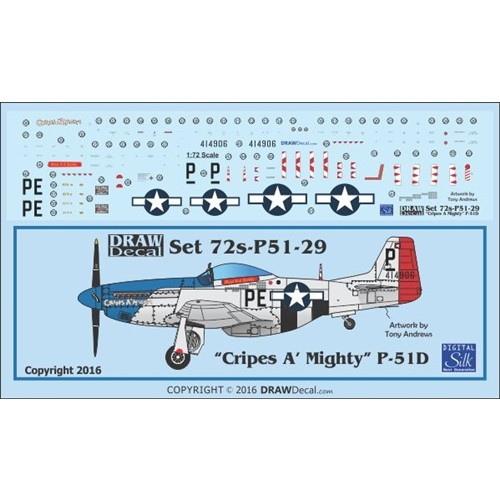 【新製品】Set 72s-P51-29 P-51D Cripes A Mighty