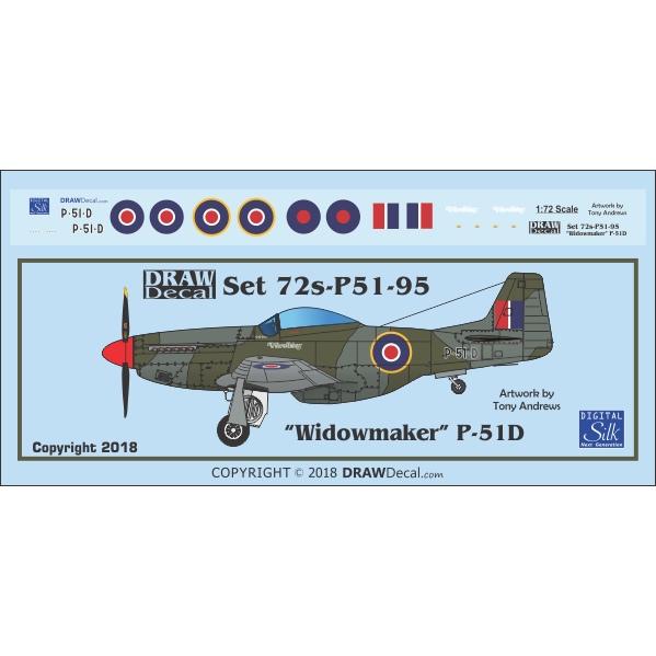 【新製品】Set 72s-P51-95 P-51D Windowmaker G-PSID