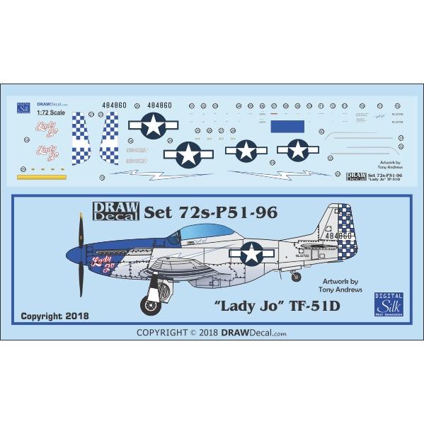 【新製品】Set 72s-P51-96 Lady Jo P-51D