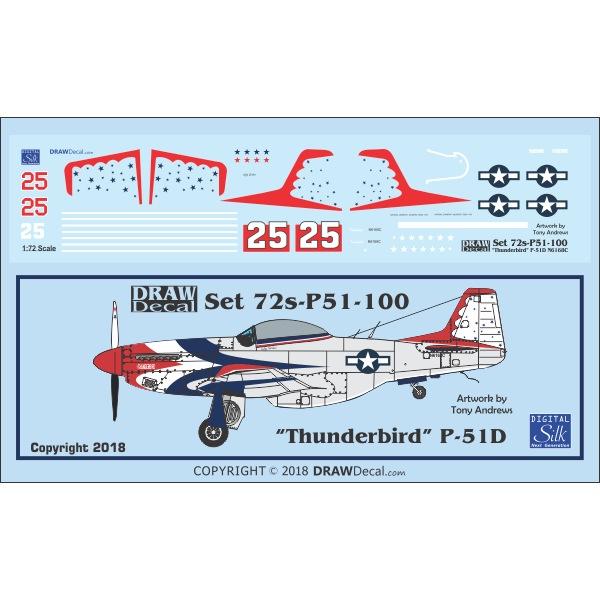 【新製品】Set 72s-P51-100 P-51D Thunderbird