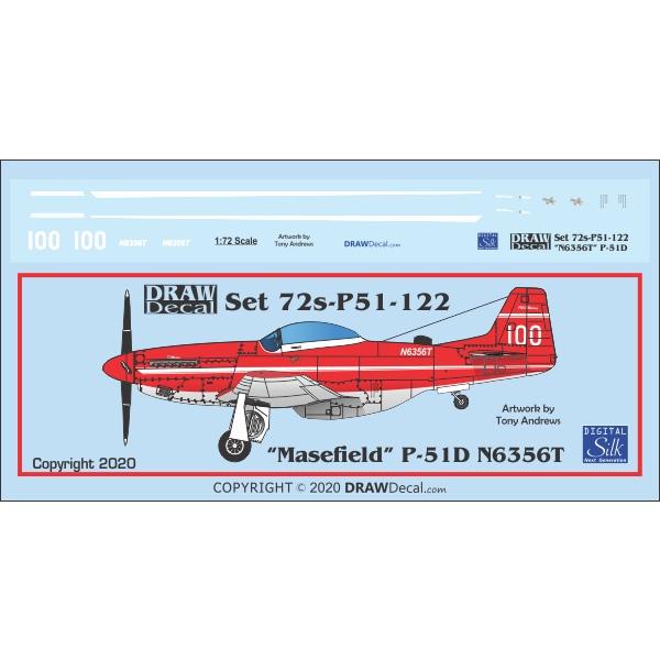 【新製品】Set 72s-P51-122 「N6356T 」P-51D