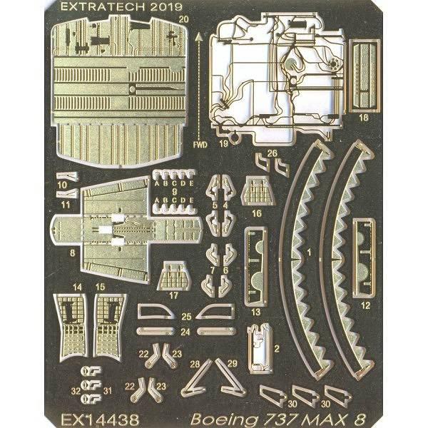 【新製品】EX14438 ボーイング B737 MAX8