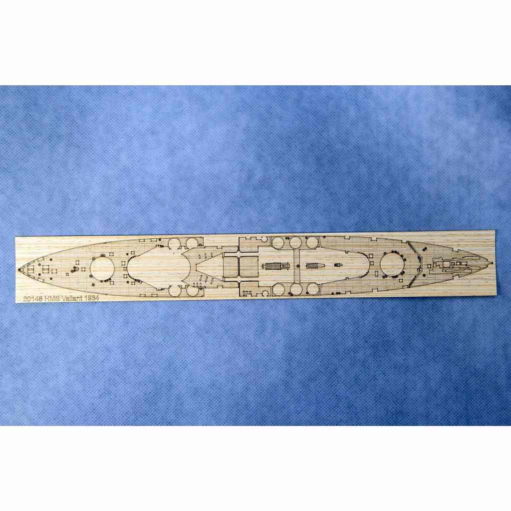 【新製品】AW20148 戦艦 ヴァリアント 1939用 木製甲板