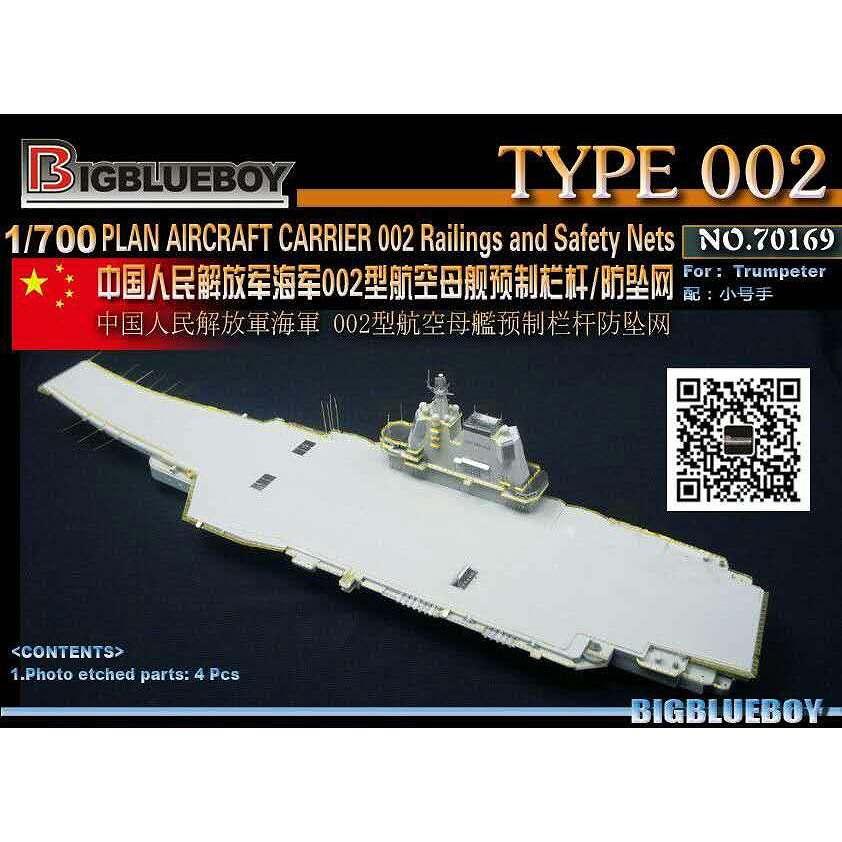 【新製品】70169 中国海軍 002型航空母艦 山東 手摺り/転落防止ネット